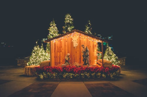 Nativity Scene, Muskegon, MI - Set up by Christmas Lights Installation Professionals